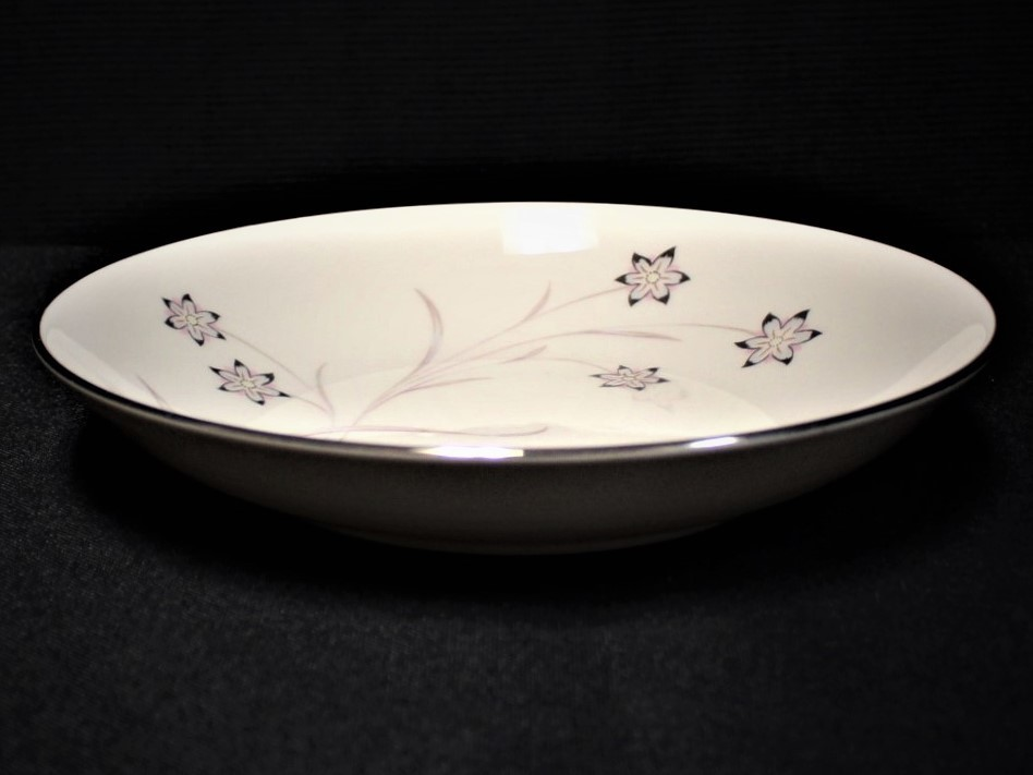 Flintridge China Starflower Coupe Soup Bowl w/ Platinum Trim