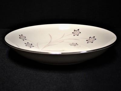 Flintridge China Starflower Coupe Soup Bowl w/ Platinum Trim