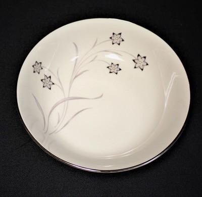 Flintridge China Starflower Round Vegetable Serving Bowl w/ Platinum Trim