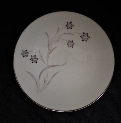 Flintridge China Starflower Bread Plate w/ Platinum Trim