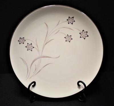 Flintridge China Starflower Dinner Plate w/ Platinum Trim