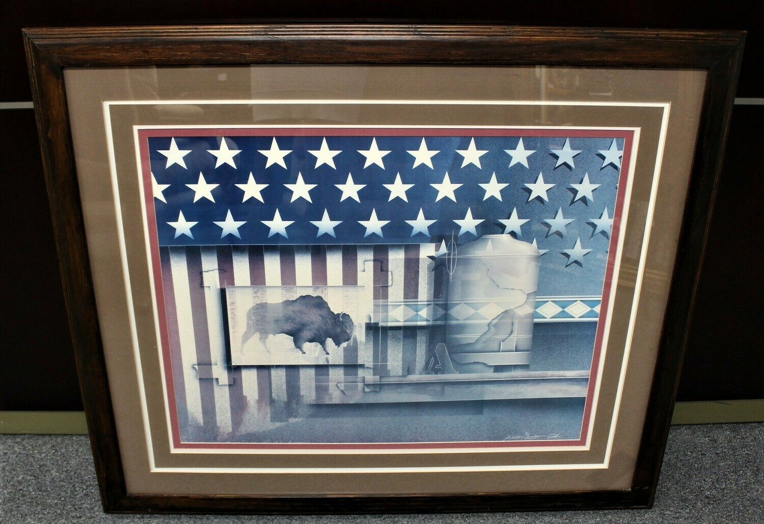 """James Carter """"American Buffalo"""" Fine Art Lithograph, Signed and Framed"""