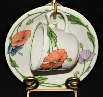 Villeroy & Boch Amapola Pattern Cup and Saucer Plate Set