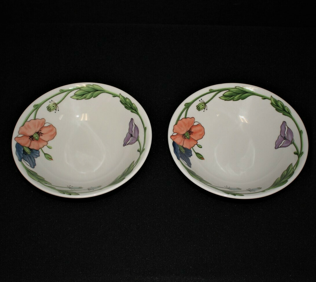 Set of 2 Villeroy & Boch Amapola Pattern 8 1/8