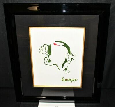 "Michael Godard ""Olive Guy"" Original Acrylic Framed Painting Art Signed w/ COA"