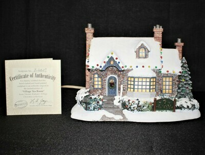 "​Thomas Kinkade 2001 ""Tea Room"" Lamplight Hawthorne Village Light-Up House"