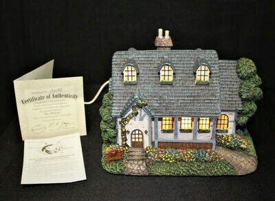 "Thomas Kinkade 2004 ""Dr. Office"" Hawthorne Village Lamplight #A0194"