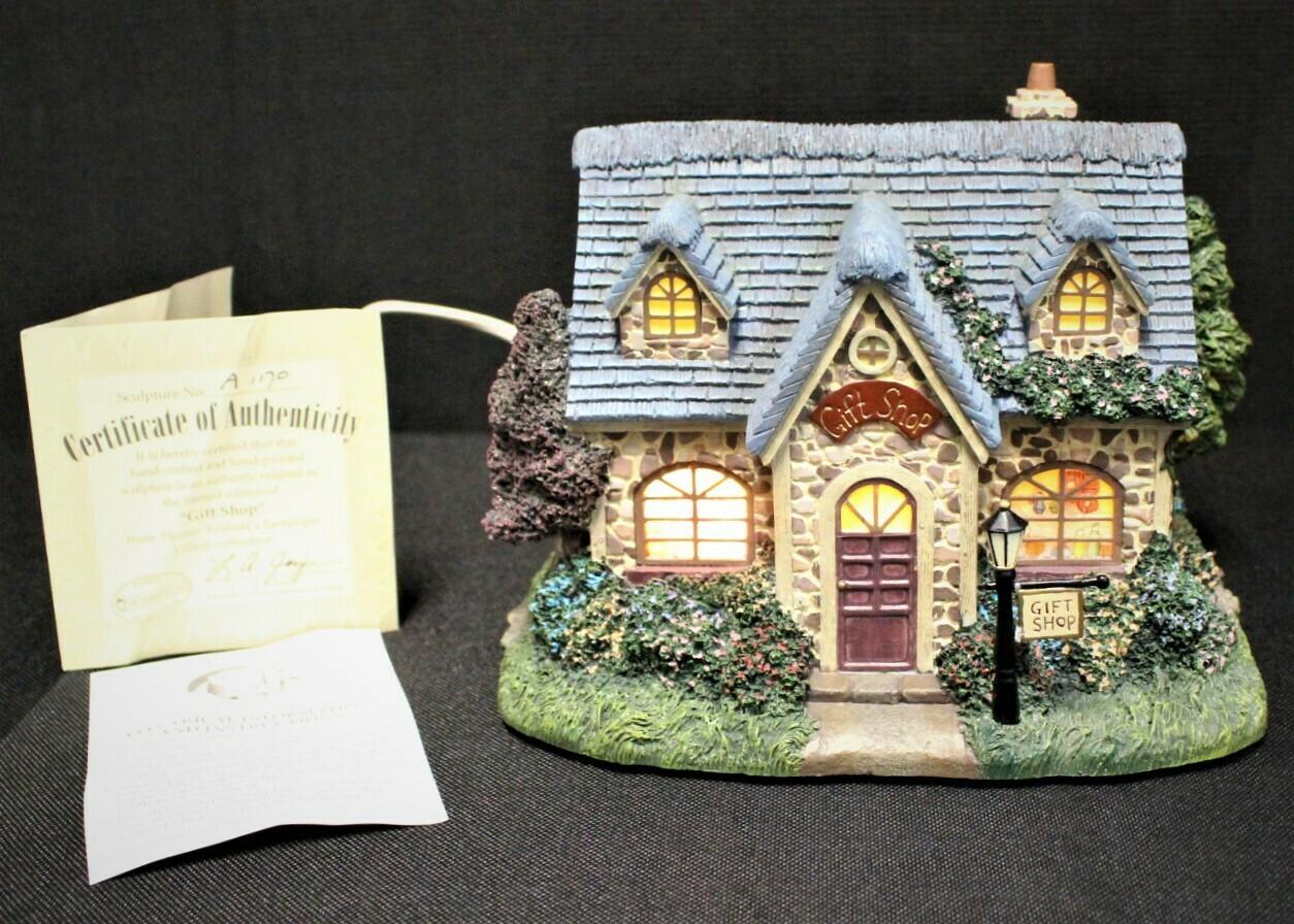 "Thomas Kinkade 2003 ""Gift Shop"" Hawthorne Village Lamplight #A1170"