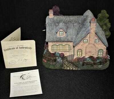 "Thomas Kinkade 2003 ""Summer's Cottage"" Hawthorne Village Lamplight #A0223"