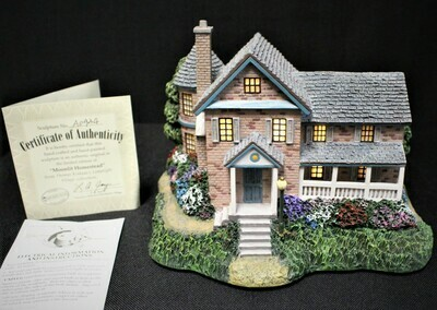 "Thomas Kinkade 2002 ""Moonlit Homestead"" Hawthorne Village Lamplight #A0934"