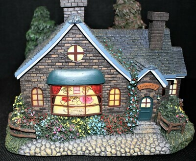 "Thomas Kinkade 2004 ""Jeweler"" Hawthorne Village Lamplight #A0326"