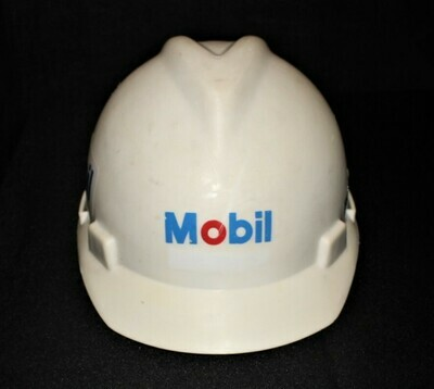Vintage Original Mobil Oil Gas MSA Certified Size Medium Hard Hat