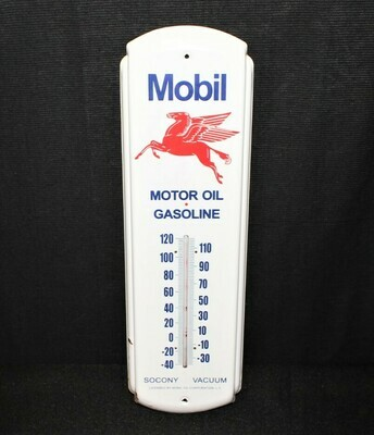 Vintage Mobil Oil Gasoline Pegasus Thermometer Advertising Sign Socony Vacuum