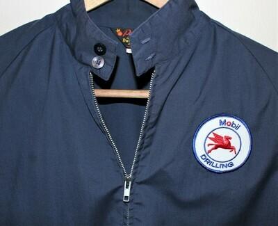 Vintage Mobil Oil Drilling Pegasus Logo Pla-Jack by Dunbrook Men's Large Jacket