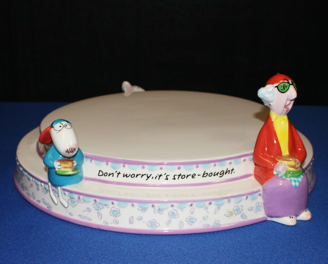 "Hallmark Maxine and Floyd ""Don't Worry it's Store Bought"" 12"" Cake Stand Platter"