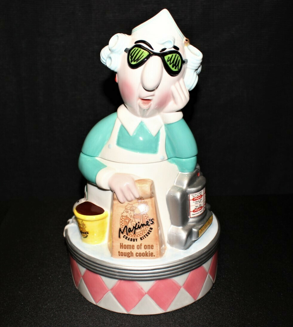 "Maxine's Crabby Kitchen ""Home of one tough cookie"" Hallmark Ceramic Cookie Jar"