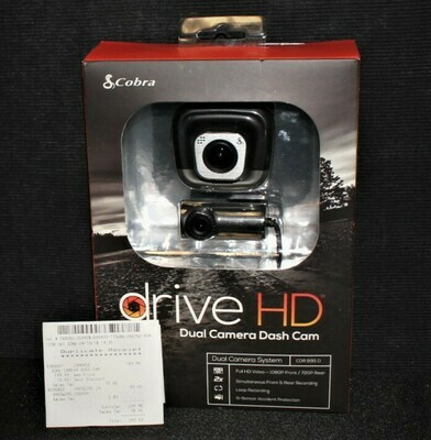 NEW Cobra Drive HD 1080P Dual Camera Dash Cam CDR895D Sealed in Box