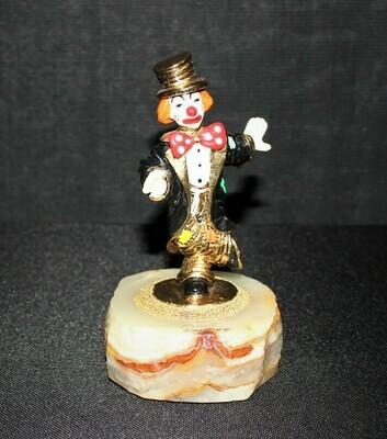 1994 Ron Lee Chip Off the Old Block Clown Sculpture Figurine on Onyx Base, Signed