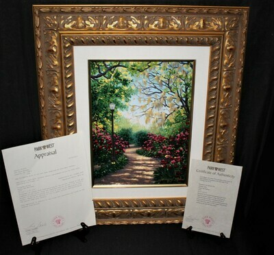 Schaefer Miles Mossy Oak Serigraph on Canvas Frame Painting Limited 199/250, COA