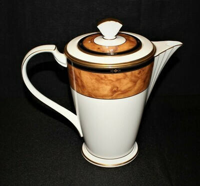 Noritake Cabot 9785 Coffee Pot and Lid (6-Cups) Bone China, Japan