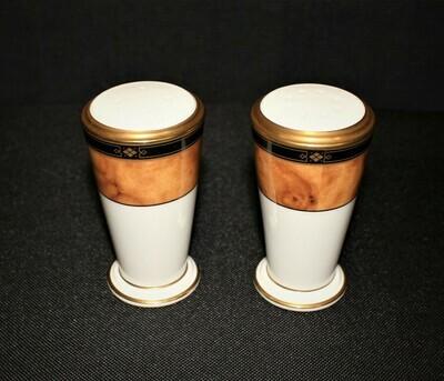 Noritake Cabot 9785 Salt & Pepper Shaker Set Bone China, Japan