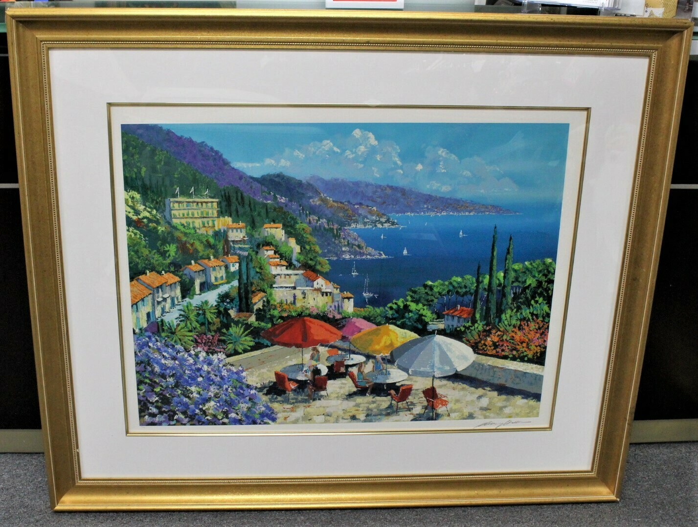 "Kerry Hallam ""Hills of Posillipo"" 53 x 44 Framed Serigraph Hand Signed 121/200"