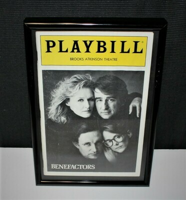 PLAYBILL 1986 Benefactors Framed Brooks Atkinson NY Broadway Theatre Program
