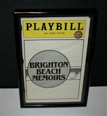 PLAYBILL 1984 Brighton Beach Memoirs Framed Neil Simon Broadway Theatre Program