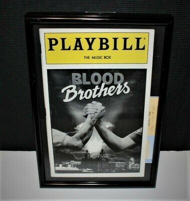 PLAYBILL 1983  Blood Brothers Framed Music Box Broadway Theatre Program & Ticket