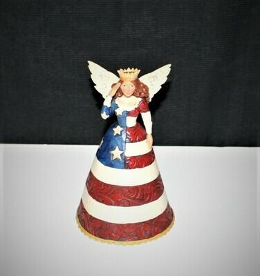 Jim Shore 2009 Star Spangled Beauty Angel Patriotic Figurine #4016877