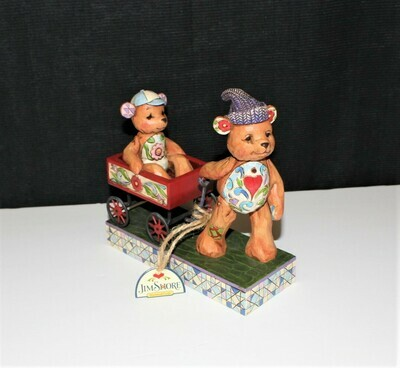 Jim Shore 2007 Pull Me Now And I'll Pull You Later Teddy Bears Figurine #4009601