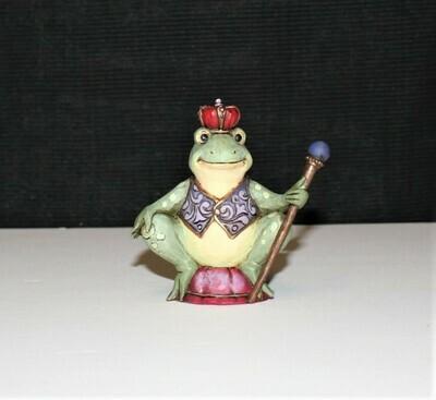 Jim Shore Miniature Frog Prince Heartwood Creek Enesco Figurine #4021440