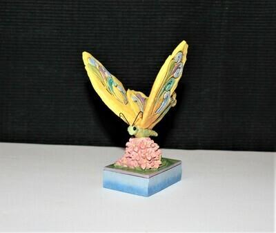 Jim Shore Miniature Yellow Butterfly Heartwood Creek Enesco Figurine #4047074