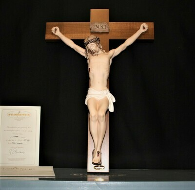 Florence Giuseppe Armani Limited Sculpture Christ Crucifix 790/C with COA & Box