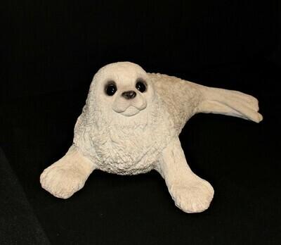 "Animal Classics HARP SEAL by United Design 17"" Stone Sculpture Figurine CC-272"