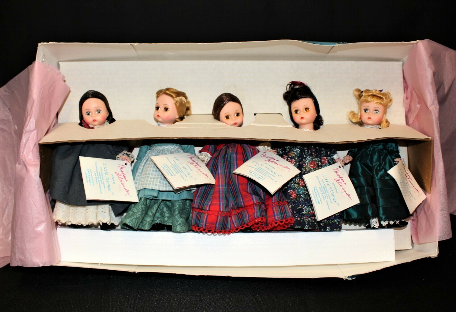 Madame Alexander Little Women 5 Doll Set Marme, Meg, Jo, Beth & Amy w/Tags & Box