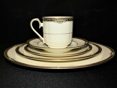 Noritake COVINA 5-Piece Place Setting #9791 Dinner, Salad, Bread, Cup, Saucer