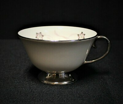 Flintridge China STARFLOWER Footed Cup, Platinum Coupe