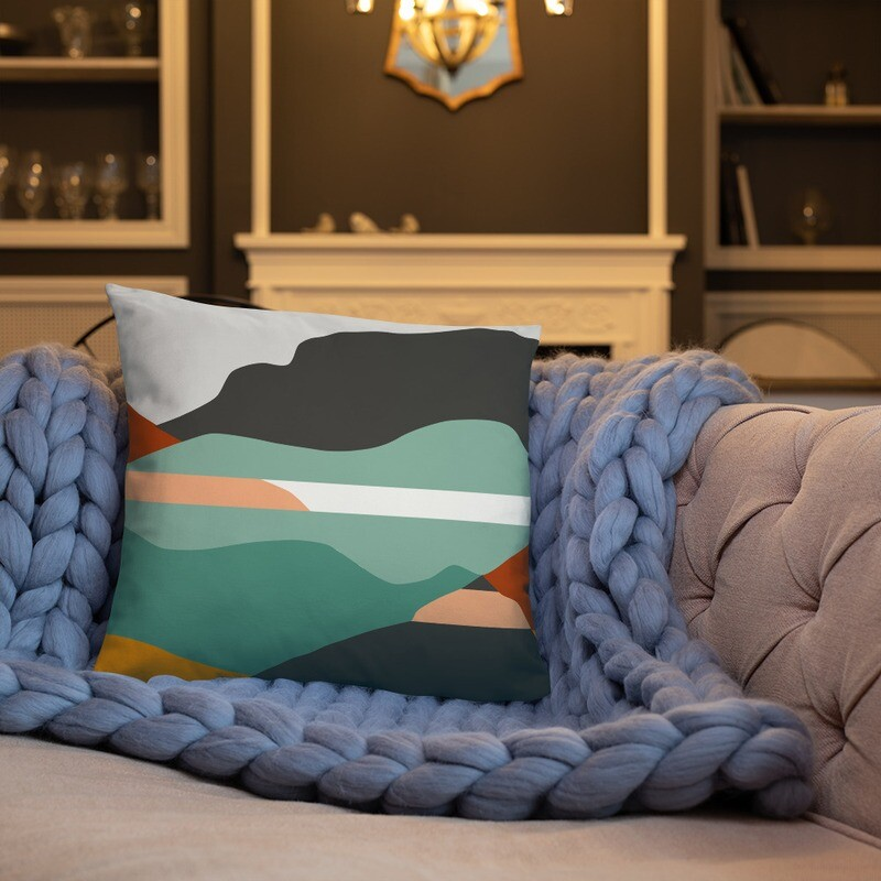 Art We There Yet Mural | Throw Pillow