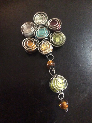 Wire Wrapped Beaded Amulet Complete Chakra Alignment And Empowerment