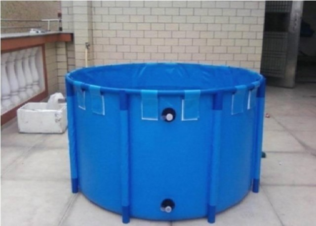 """Foldable Round Koi Show Tank,-[829 gal.] 78.7"""" x 39.4 """"  Vinyl LinerLiner is UV resistant"""