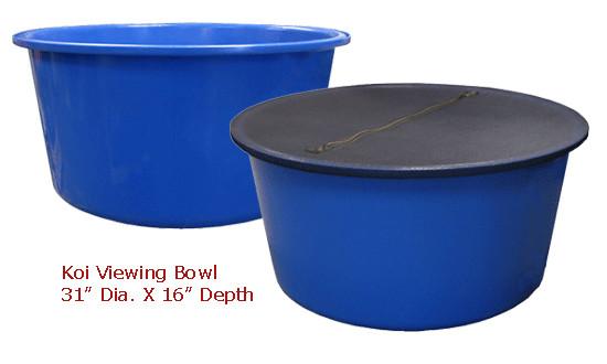 "Koi Viewing Bowl by Dream Pond Inside Dimenison Dia 31"" x 16"" DEEP"