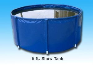8' Show Tank [Black], 1,020 Gallons, with Free Shipping
