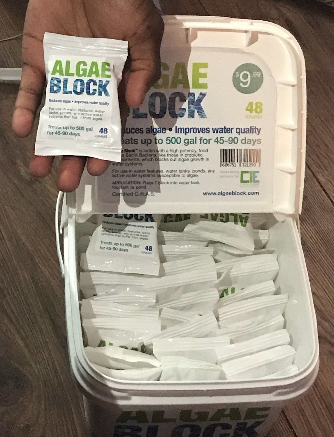 LGAE BLOCK 48 GRAMS  TREATS UP TO 500 GALLONS FOR 45-90 DAYS