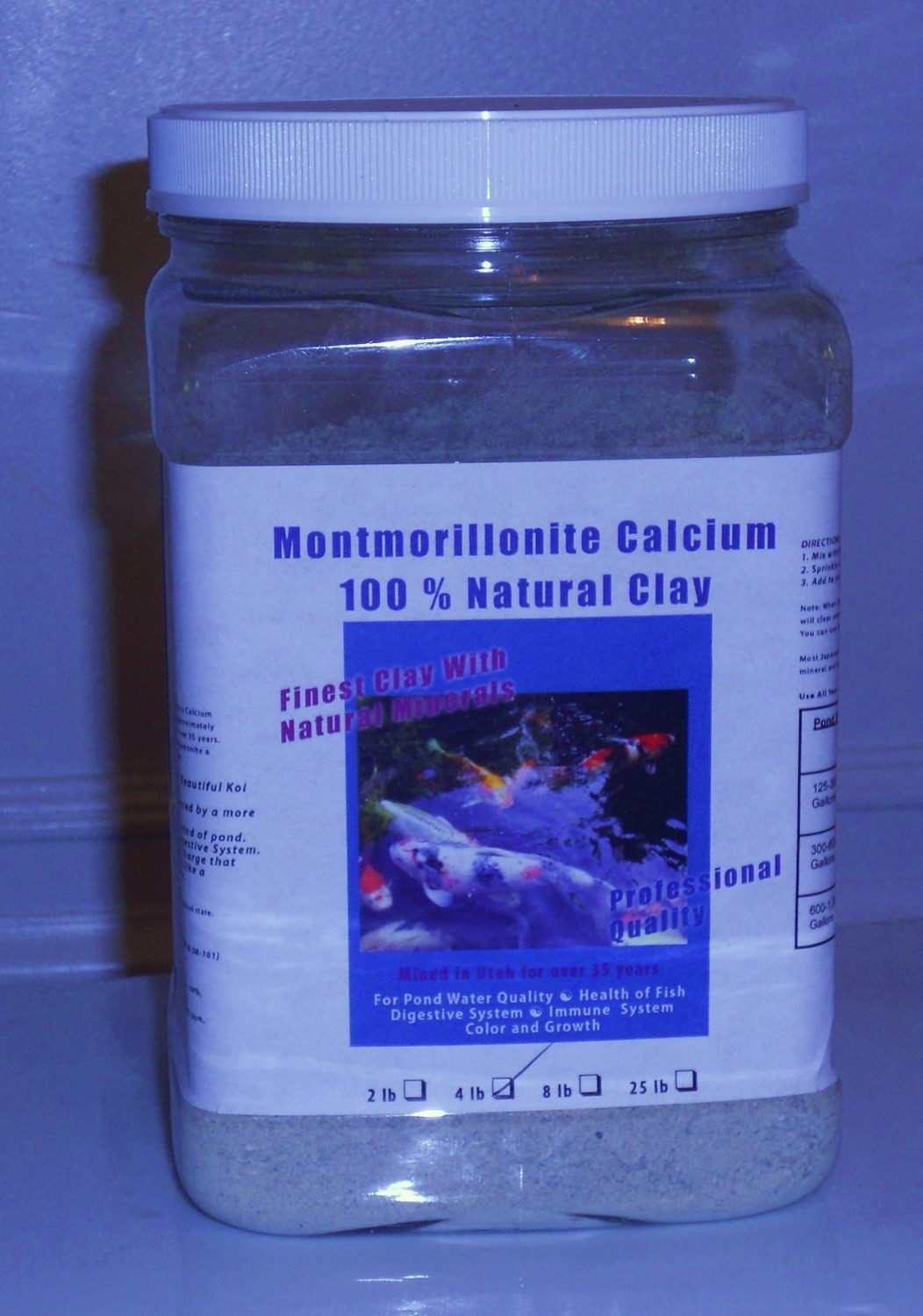 Montmorillonite Calcuium Clay 4 lb.