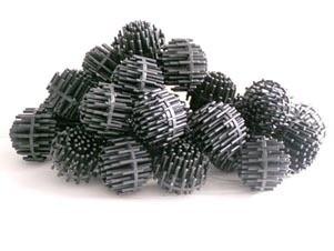 """Bio Balls 1 1/2"""" Diameter, Black in color  4.5 Cubic Foot 38lbs"""