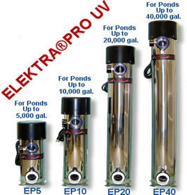 Elektra Pro UV Light EP 40 Ponds up to 40,000 Gallons. FREE SHIPPING