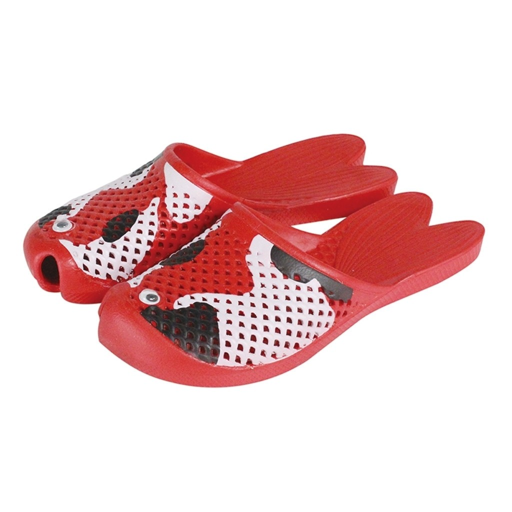 KOI SANDALS  1 Size: 6.5–8.5 adults  RED WITH BLACK / WHIE