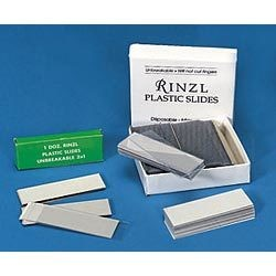 Microscope Slides, Plastic, 3 x 1 in, Bx 144