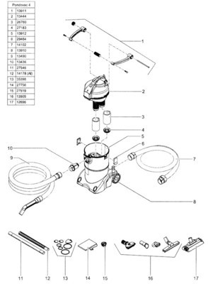 POND O VAC 3 Clamp Replacement Kit  includes clamp and hinge  priced eac